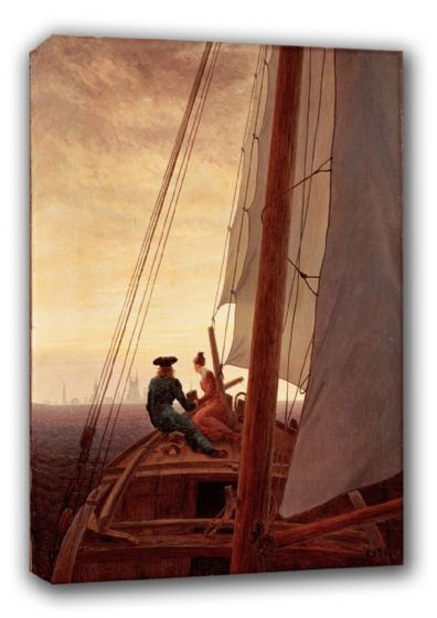 Friedrich, Casper David: On Board a Sailing Ship. Fine Art Canvas. Sizes: A3/A2/A1 (00473)